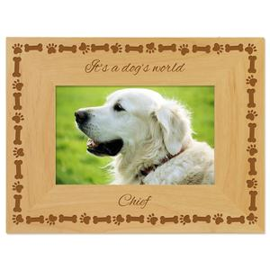 GTFRAME Custom Wood Cat Memorial Paw Dog Pet Picture Photos Frame