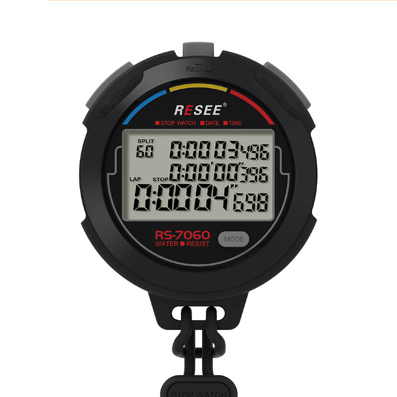 Digital sports stopwatch supplier 500 memory smartwatch digitaal stopwatch timer