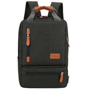 2020 Hot sale durable fashion double back pack cut resistant chest bag usb charging anti theft laptop backpack set