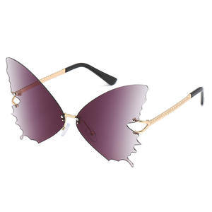 Morvan New Fashion Gradient Color Butterfly Sun Glasses Designer Women Oversized Sunglasses