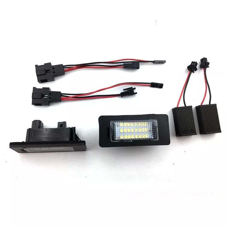 LED License Plate Light 12V White Automobile Lamps for Audi A1/A4/Allroad /A7/Q5/S5/A5/TT(07-10)