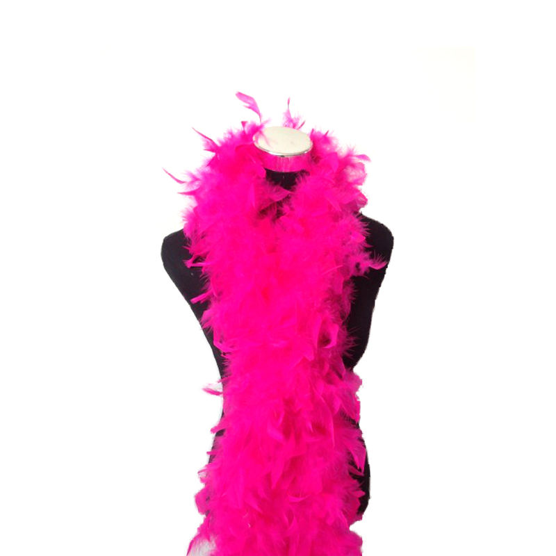 Stocks Thick 50g Wholesale Turkey Feather party boa Pink Red Black White Fluffy Marabou Feather