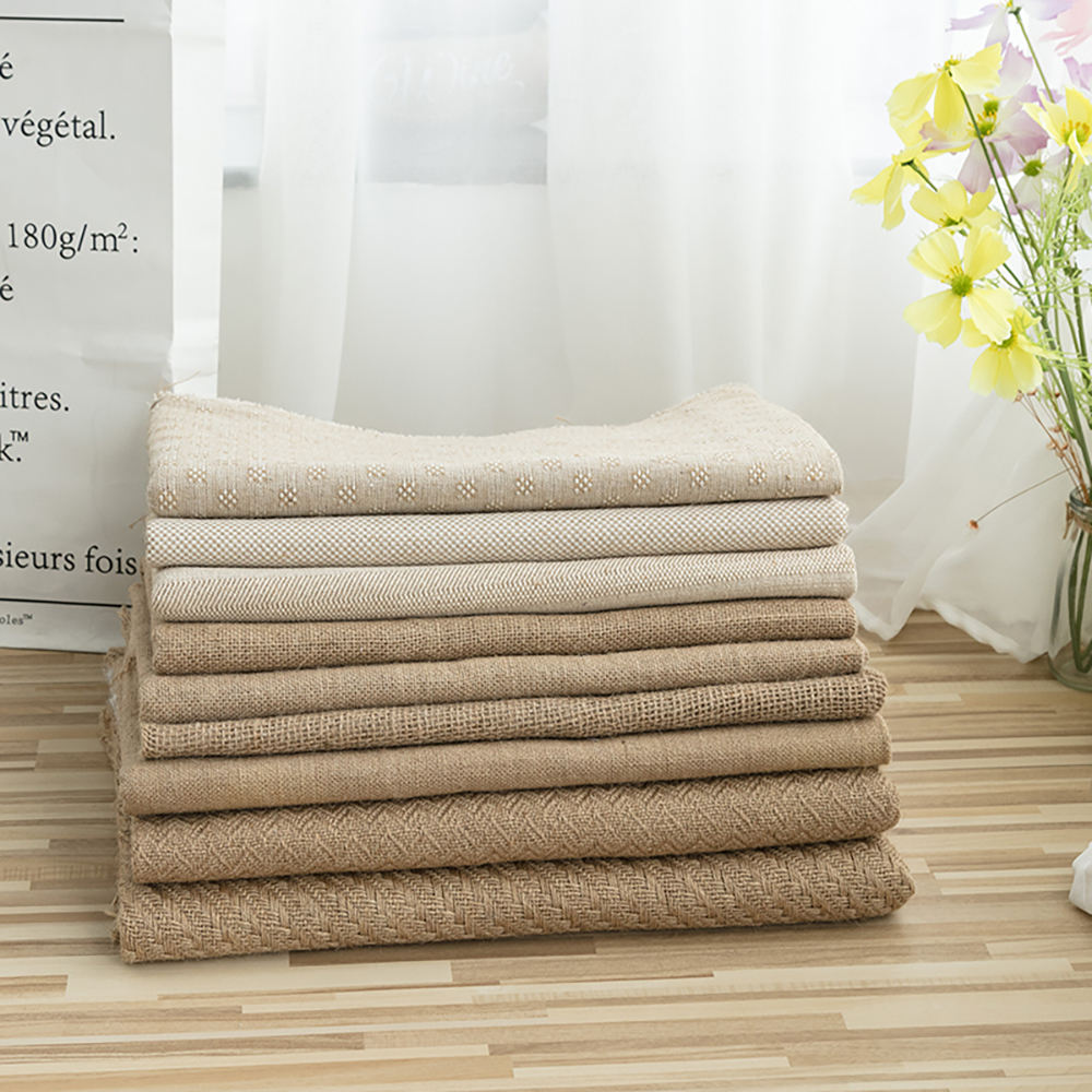 Natural color hessian cloth woven 100% burlap jute fabric for bags