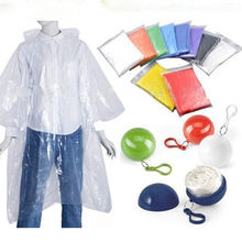 Customized Logo Printed Disposable Rain Poncho/Clear PVC Raincoat
