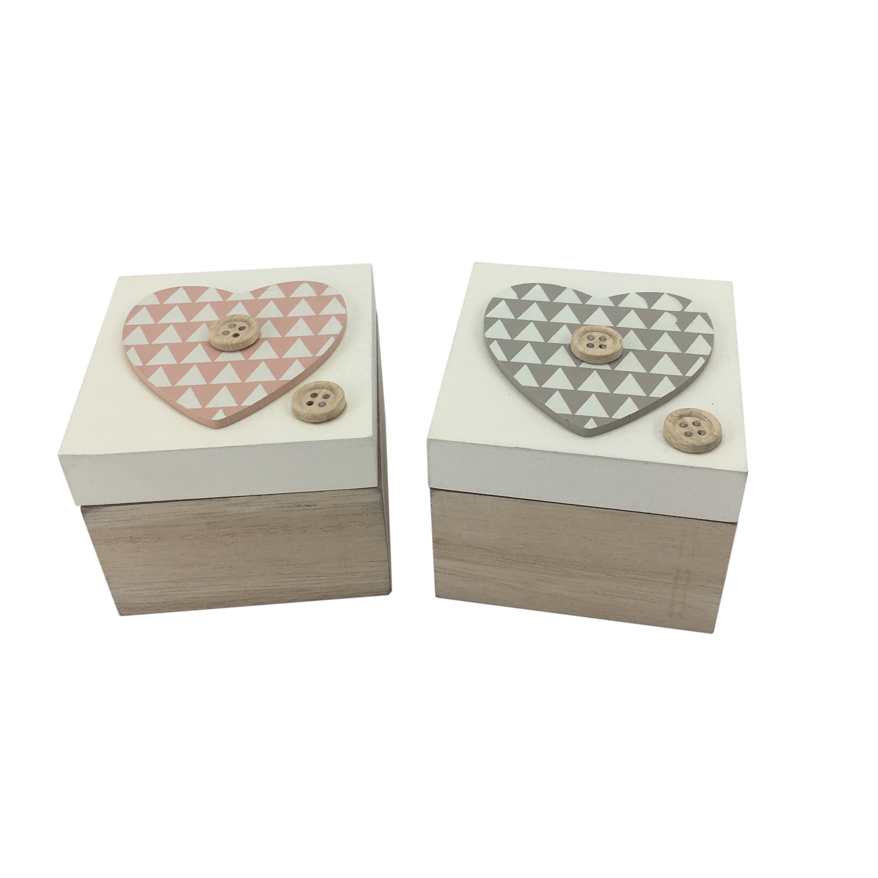 Custom Mini MDF Printed Decorative Square Packaging Gift Small Painted Wooden Craft Storage Box For Decor