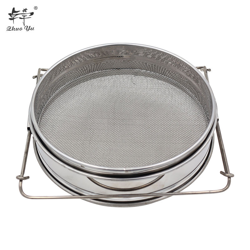 China Supplier Factory Price Stainless Steel Triangle Honey Strainer/Filter for Harvesting Pure Honey