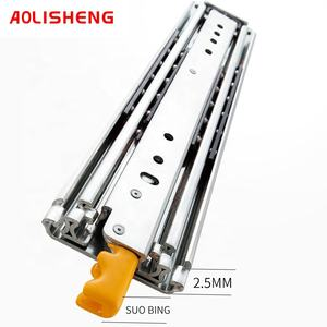 Aolisheng 76mm wide three-section display ball bearing heavy drawer slide