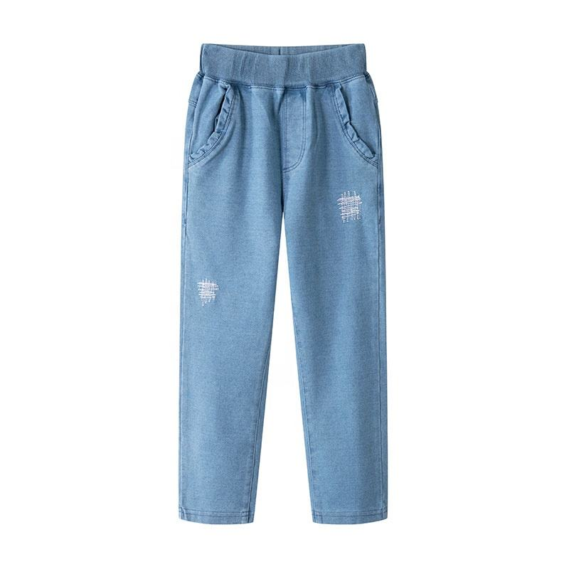 Fashion autumn girls denim pants for kids children clothes