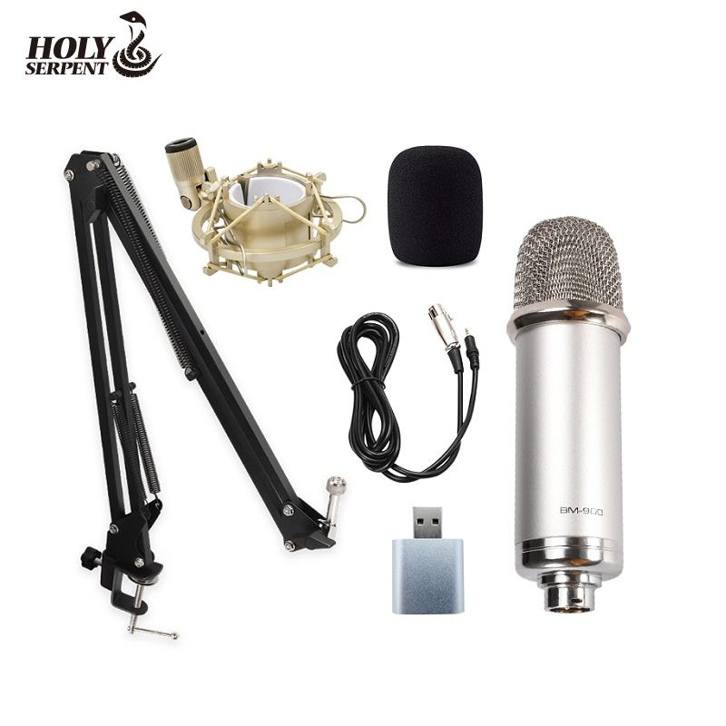 High Sensitivity BM900 Podcast Studio Recording Electret Condenser Microphone On Live Professional Set Microfoon