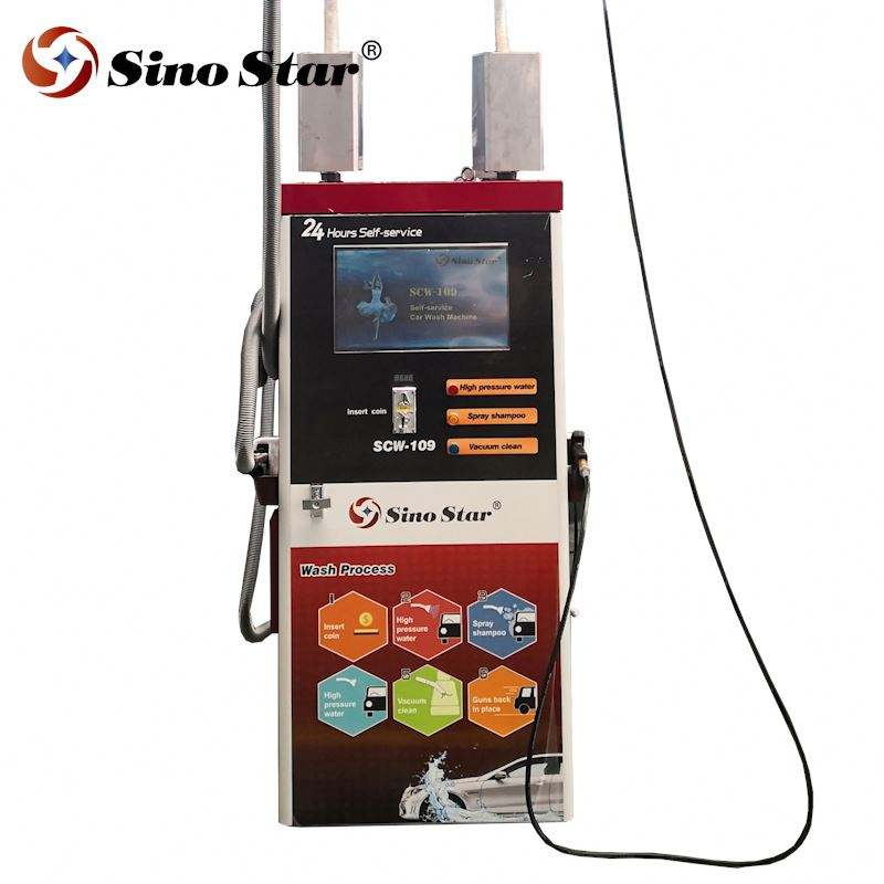 Automatic coin/card operated self service car washing machine/self-service payment bus machine coin