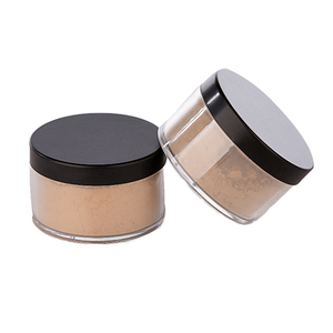 Oem Low Moq Wholesales 7 Colours Black Lid Pigment Custom Logo Private Label Face Setting Makeup Loose Powder With Cosmetic Puff