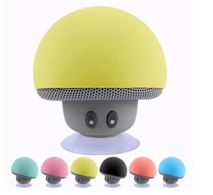 Factory Supply Siliconen Zuignap Mini Wireless Bluetooth Draagbare Paddestoel Speaker