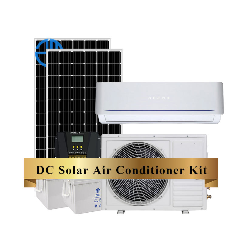48V DC Solar Air Conditioner For Home Solar Powered Air Conditioner Full DC Volt Inverter Minisplit 1 Ton 1.5Hp