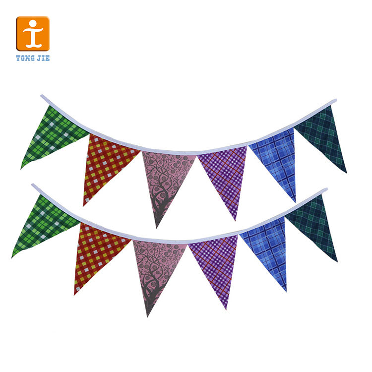 Custom String pennant bunting Flags/christmas festival string flags