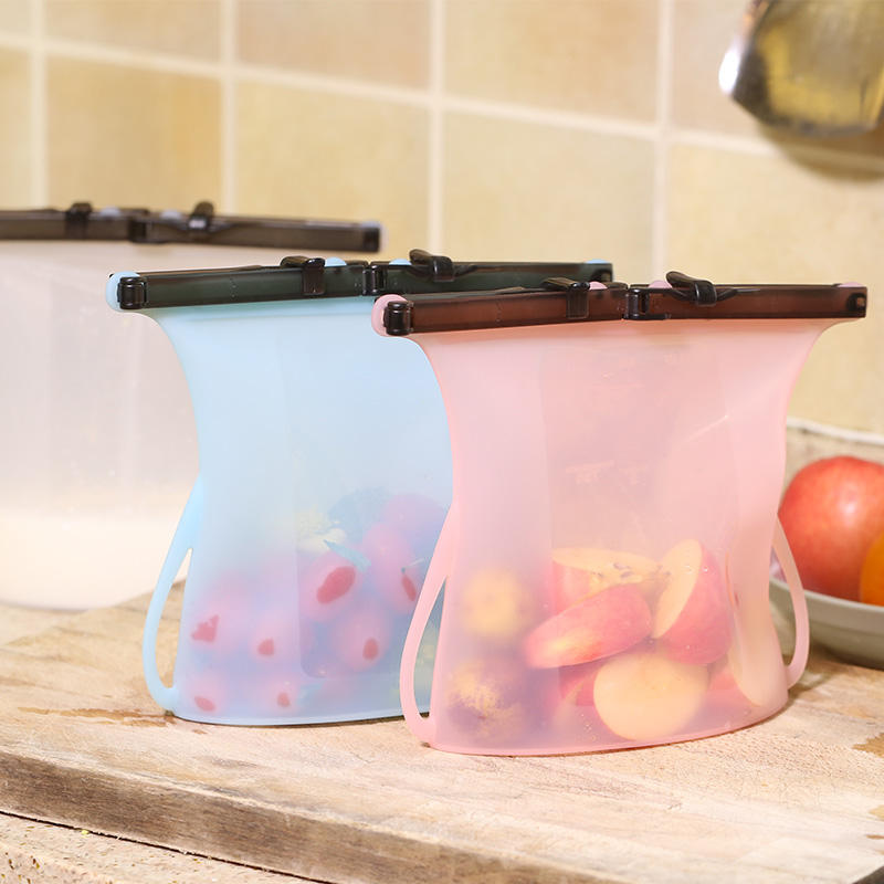 Portable Kids Large Foldable Water Zip Travel Vacuum Reusable Silicone Food Storage Bag New