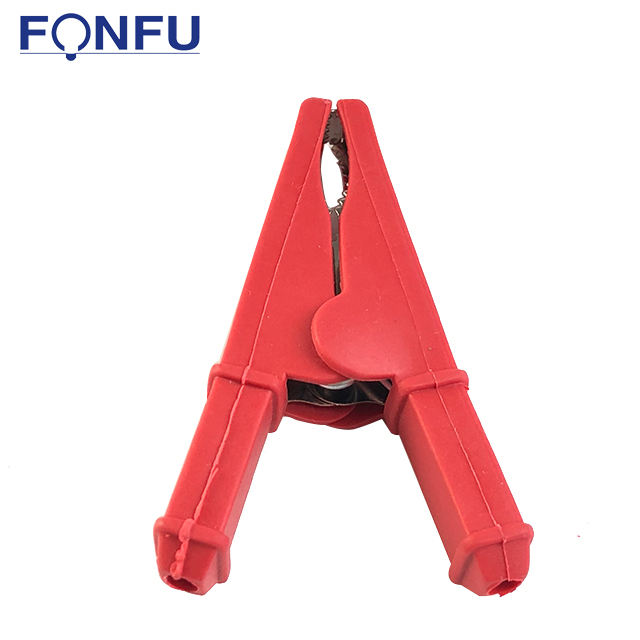 2pcs 100A Crocodile Clip Full Insulated Car Alligator Clips Copper Plated Battery Clamps for Car Auto Vehicle for Battery Chargers 9cm Length