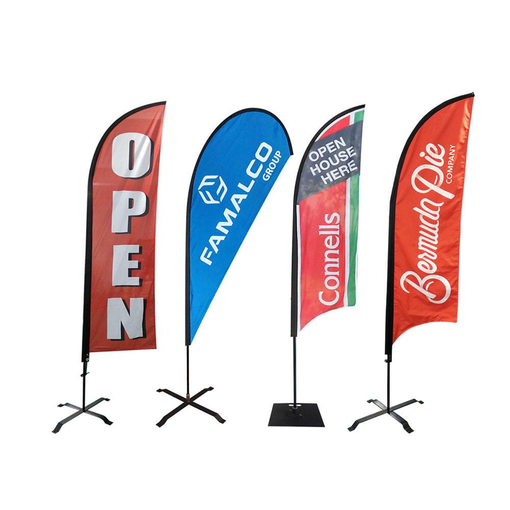 TOP DOLLAR FOR TRADES Car Dealer Swooper Banner Feather Flutter Curved Top Flag