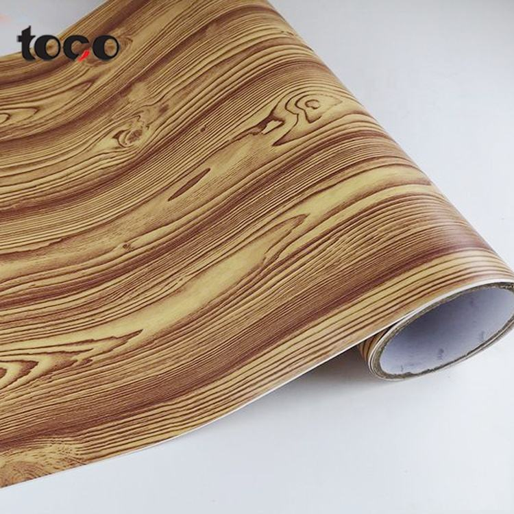 1.22*50m Furniture wood grain Self Adhesive PVC Vinyl Wrap foil Roll Wood Grain Laminate Sticker pvc wood pattern film