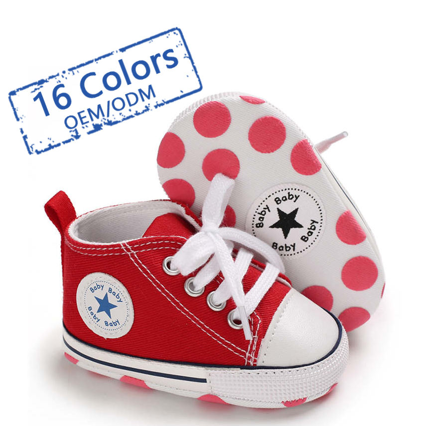 Designer wholesale ODM/OEM Canvas shoes first Walker kids boy and girl crib Baby shoes