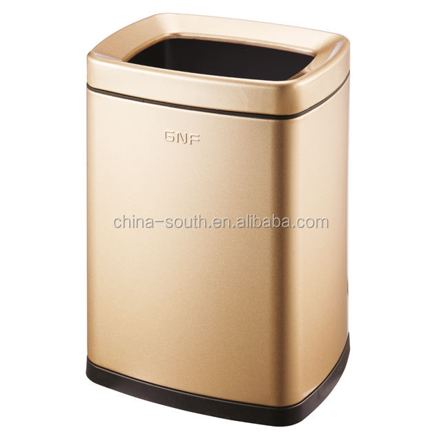 plastic and stainless steel hotel 6L waste bin