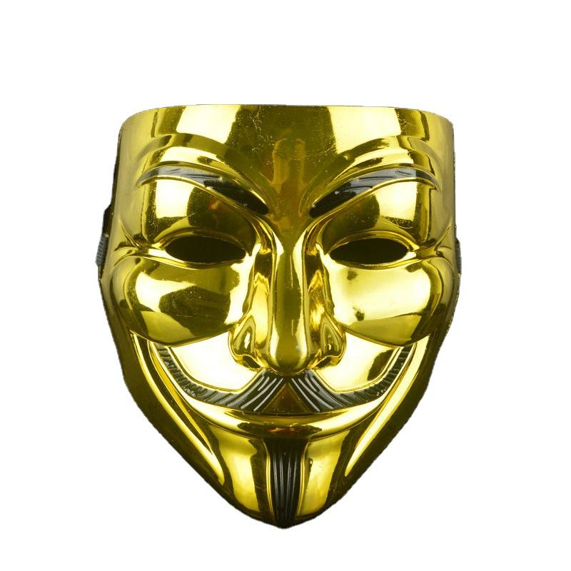 Party Masks V for Vendetta Mask Anonymous Guy Fawkes Fancy Adult Costume Accessory Party Cosplay Halloween Mask