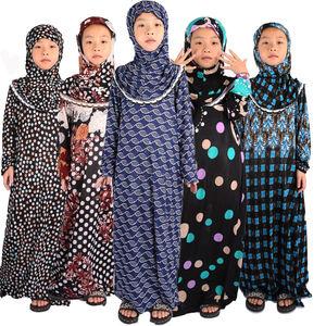 4-15 years cotton material gril muslim prayer abaya free shipping