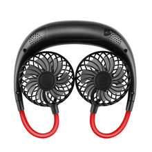 2021 New Patented Product USB Rechargeable Mini Portable LED Hanging Neck Band Hung Cooling Fan