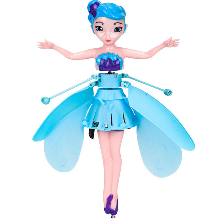 Rechargeable Fery flying doll flying toys Magic Sensing Helicopter flying doll toy fairy