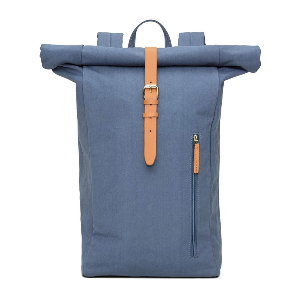 Women's and Men's Rucksack Organic Cotton High-Quality Roll Top Daypack Casual Daypack