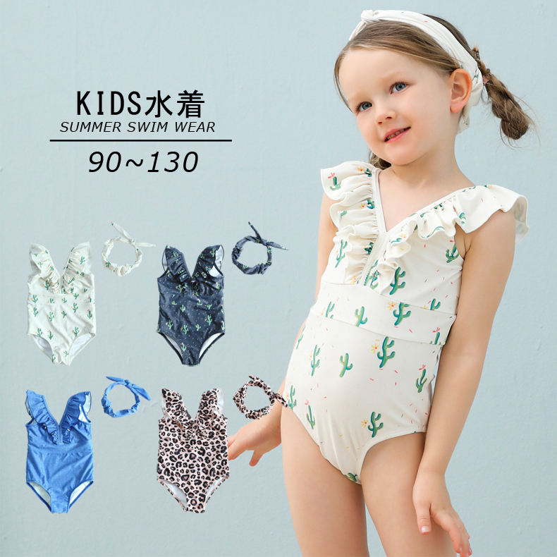 2021 new style one-piece kids swimming suit hot selling children swimwear baby girl swimming wear