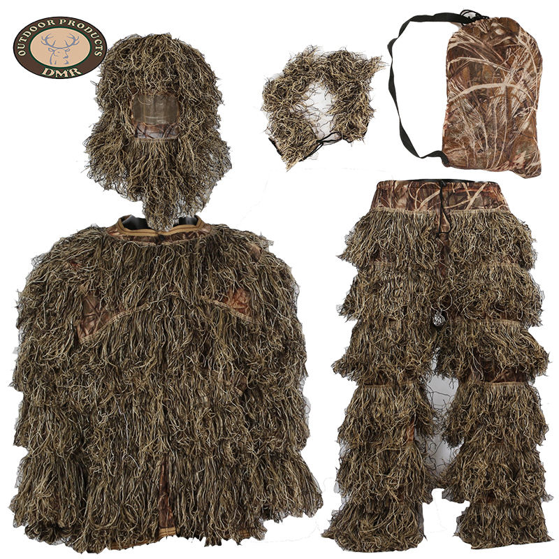Wholesale custom desert camo camouflage clothing sniper ghillie suit fabric for hunting