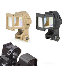 SPINA OPTICS 360 Degree Rotate Reflex Corner Tactical Angle Sight For Red dot or Holographic Sight Aiming Device Mount