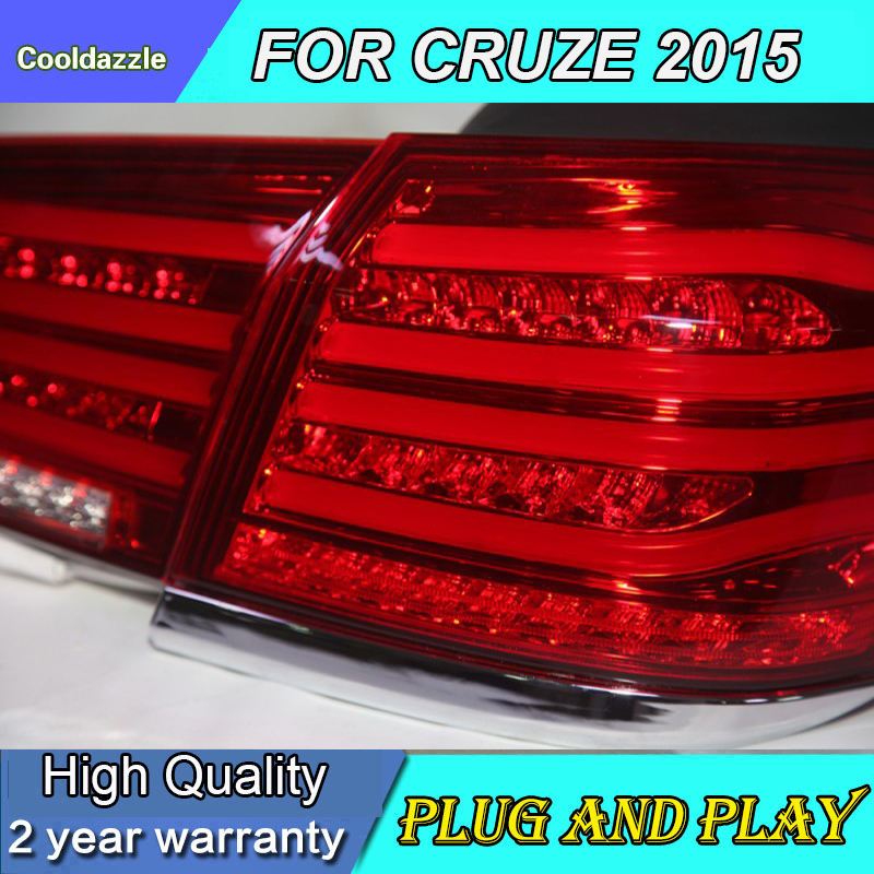 2009-2014 year Cruze LED Taillights Lamps Chrome Housing Smoke Black Clear BW