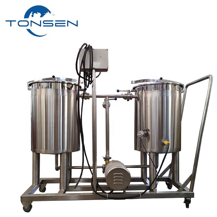 2 Vessels CIP Cleaning Tank for Brewery Beverage Company