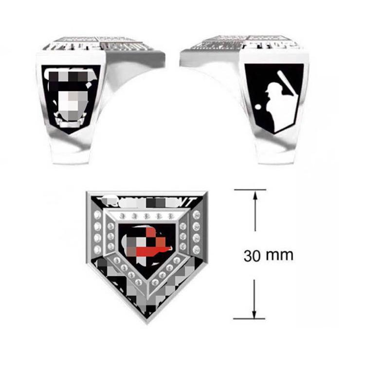 Design custom ball baseball rugby ice hockey club game awards men's ring poker star champion ring designated to do