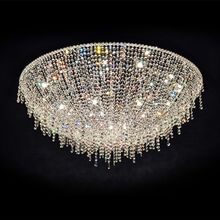 Custom Modern luxury large crystal chandelier for hotel lobby staircase lighting