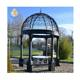 Cheap outdoor garden decoration antique wrought iron gazebo European style black cast iron wedding gazebo for sale
