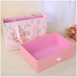 Scatola regalo di Giorno di san valentino da sposa high-end portatile scatola di imballaggio rosa regalo scatola di imballaggio