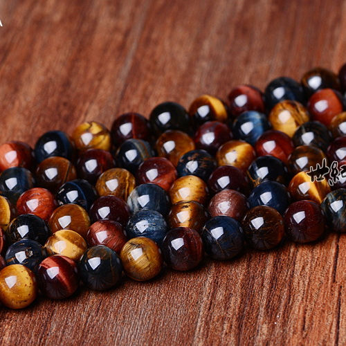 Natural gemstone crystal mix color tiger eye beads stones for jewelry making