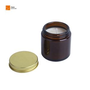 Amazon Birthday Gifts 100% Pure Natural Wax Coconut Wax Aromatherapy Scented Candles With Luxury Amber Glass Vessel Holders