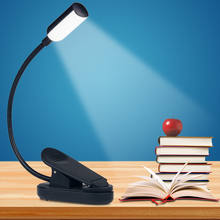 Promotion night reading book light arm flexible gooseneck mini 4 LED clip rechargeable usb light