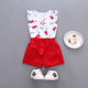 The butterfly sleeves children clothes T-shirt baju anak girls clothing set Summer clothes