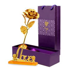 24K gold leaf rose,Creative Christmas valentine's day gift set small gift wholesale