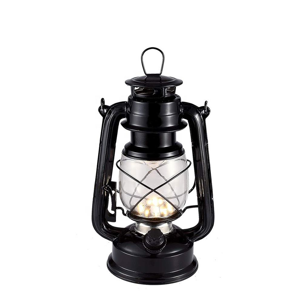 Warm light Iron Vintage oil lamp wick Camping lanterns Portable Lamp Masthead Light Battery Retro Oil Lamps Kerosene Lantern