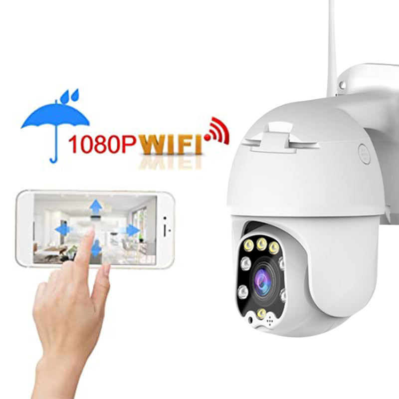 Full HD 1080P Wireless WIFI IP Camera Outdoor CCTV HD Home Security Surveillance Full Color Night IR Cam PTZ Camera