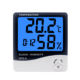 HTC-8 Indoor Digital Thermometer Hygrometer Weather Station Alarm Clock Wall Hanging Electronic Temperature Humidity Meter