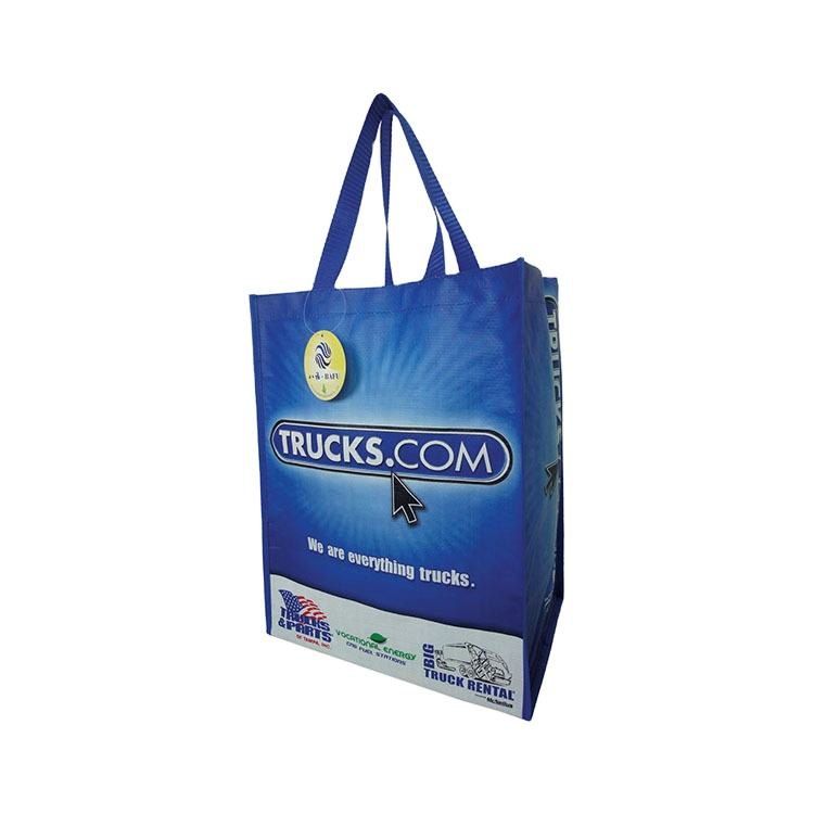 PP Laminated with BOPP film durable customized printing tote non woven bag eco-friendly shopping bag