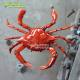 Giant Fiberglass Seafood Crab Statue for Seafood Restaurant Decoration