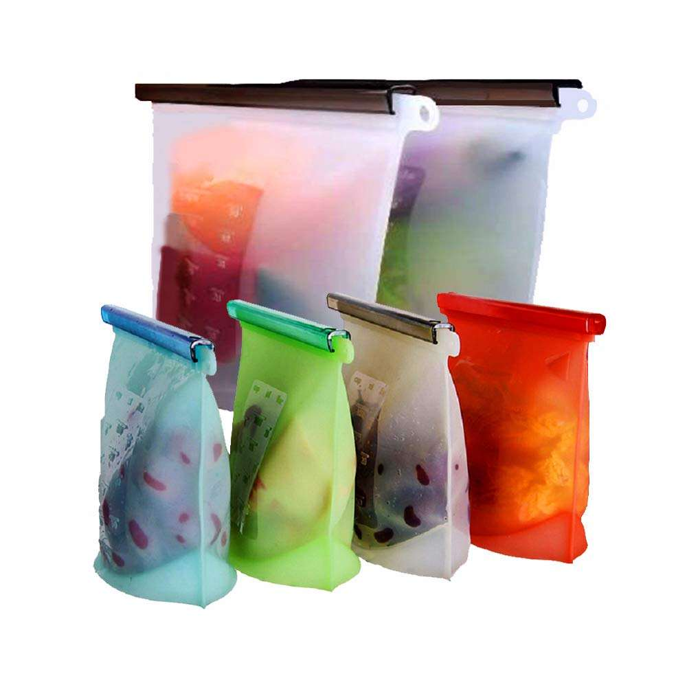 Silicone Reusable Food Storage bag kitchen food bag sandwich bag