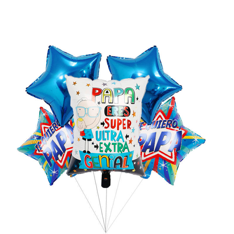 Spanish Father's day foil balloons papa party decorations Party Decoration Supplies Mylar Balloons for Fathers Day